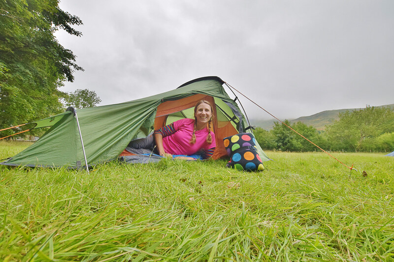 UK camping for beginners - Nant Peris campsite Snowdonia