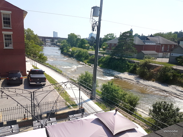 View of Ganarask River from hotel