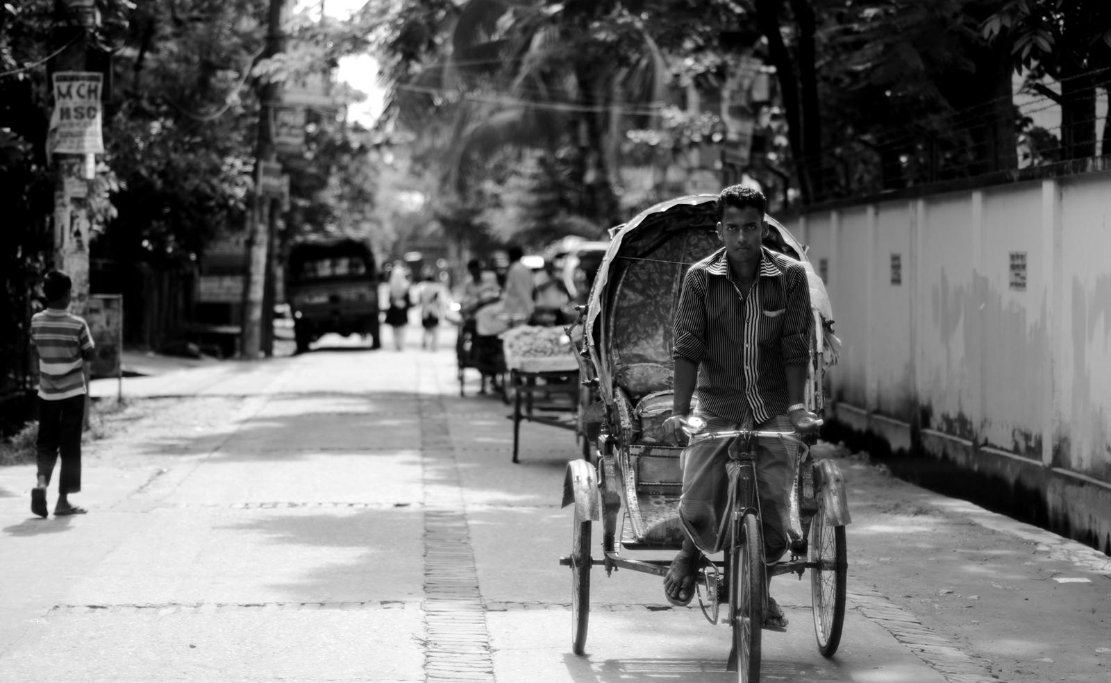 A rickshaw puller in Bangladesh. Photo taken on July 26, 2012.