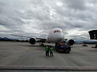 Bogotá airport platform