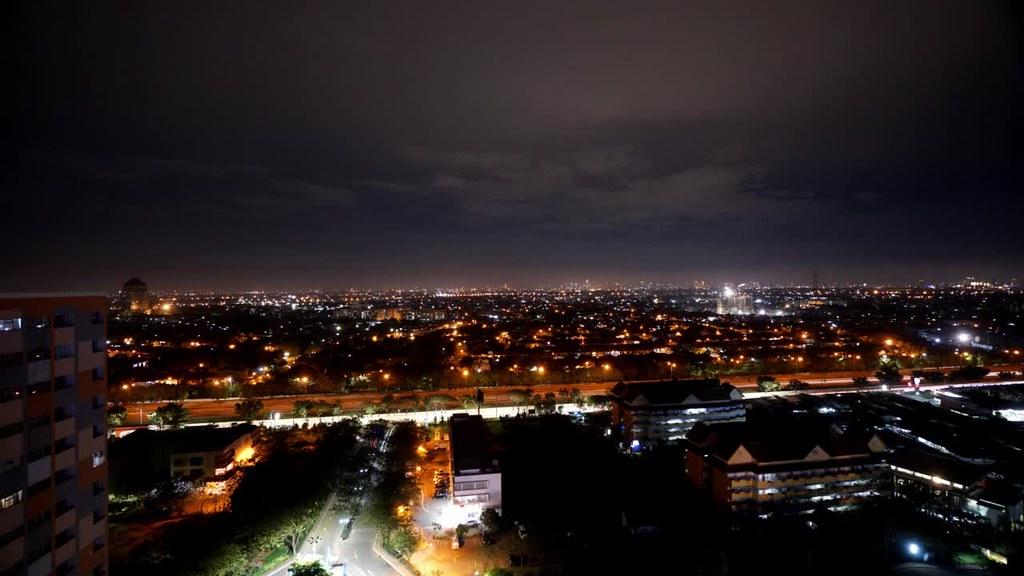 Night Timelapse of East Jakarta City