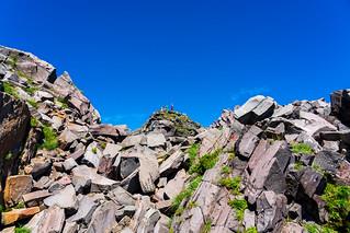 目指す新山のピーク