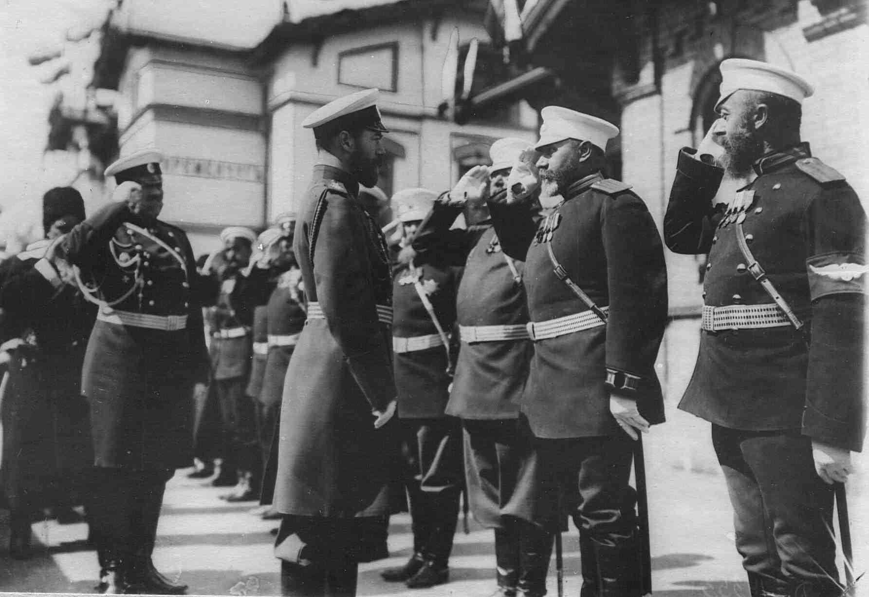 Император Николай II на вокзале ст.Кременчуг