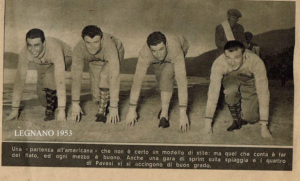 Legnano 1953 preparazione atletica (foto inviata dal figlio Marco)