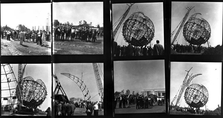 The Unisphere under construction, 1963-1964.