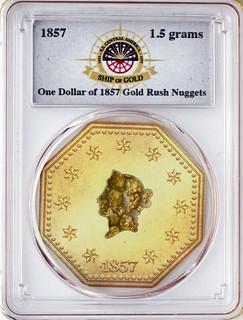 SS Central America Gold Nugget Medal slab obverse