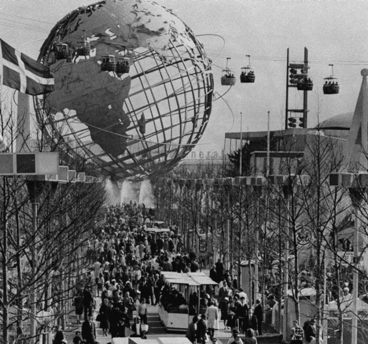 The Unisphere as seen during the 1964-1965 New York World's Fair.