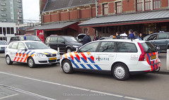 Dutch police Volkswagen and Volvo