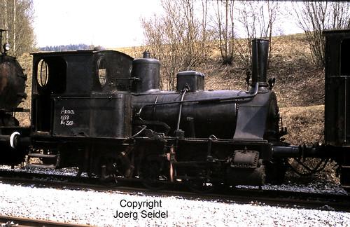 DE-94239 Gotteszell Regentalbahn Dampflok Anna der Regentalbahn (Krauss 2264/1890)  im Mai 1982