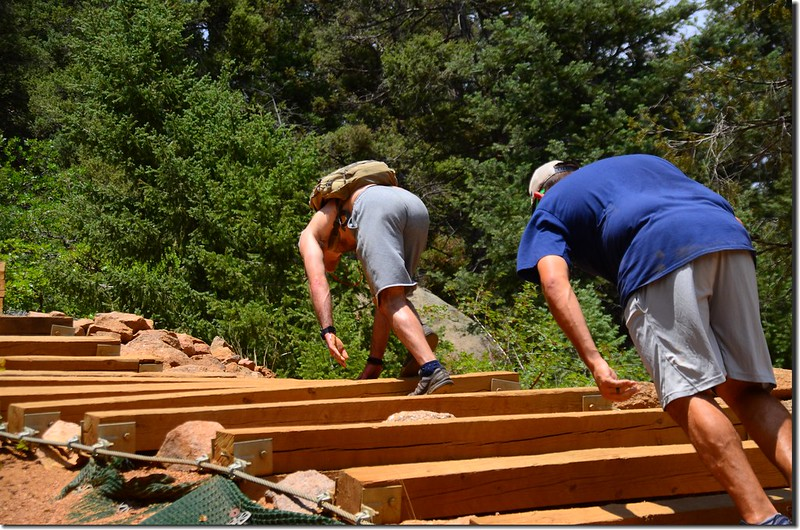 Hikers climbing up the Manitou Incline in Manitou Springs (3)