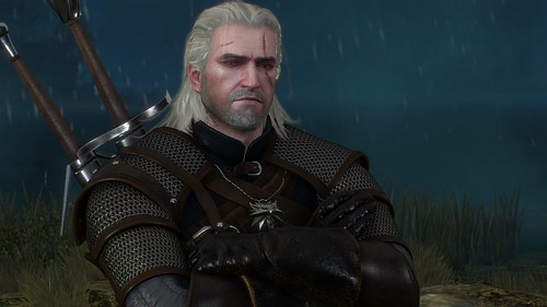 Witcher 3 - Geralt in the Rain