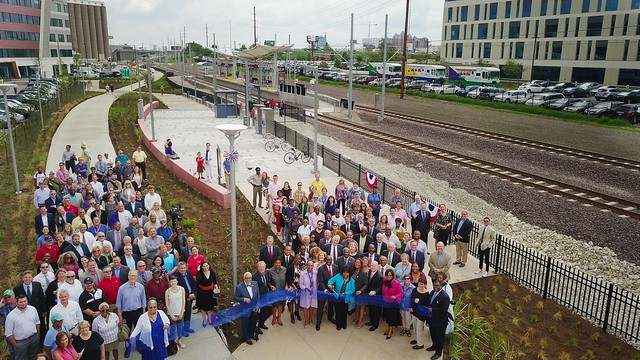 Cortex MetroLink Station, Chouteau Greenway Grand Opening