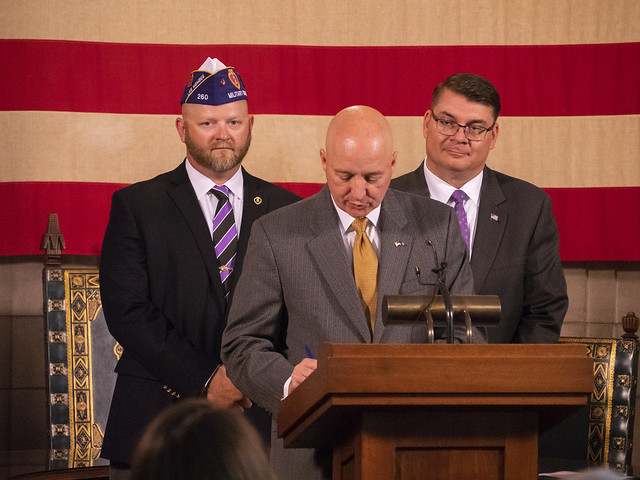 Gov. Ricketts Honors Purple Heart Recipients on Purple Heart Day