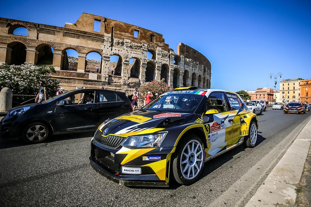 03 Simos Galatariotis (CYP), Antonios Ioannou (CYP), SKODA FABIA R5, action during the 2018 European Rally Championship ERC Rally di Roma Capitale,  from july 20 to 22 , at Fiuggi, Italia - Photo Thomas Fenetre / DPPI