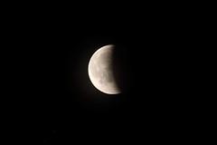 la Lune mangée par l'ombre de la Terre