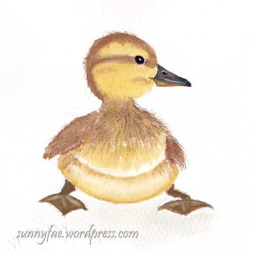 duckling watercolour
