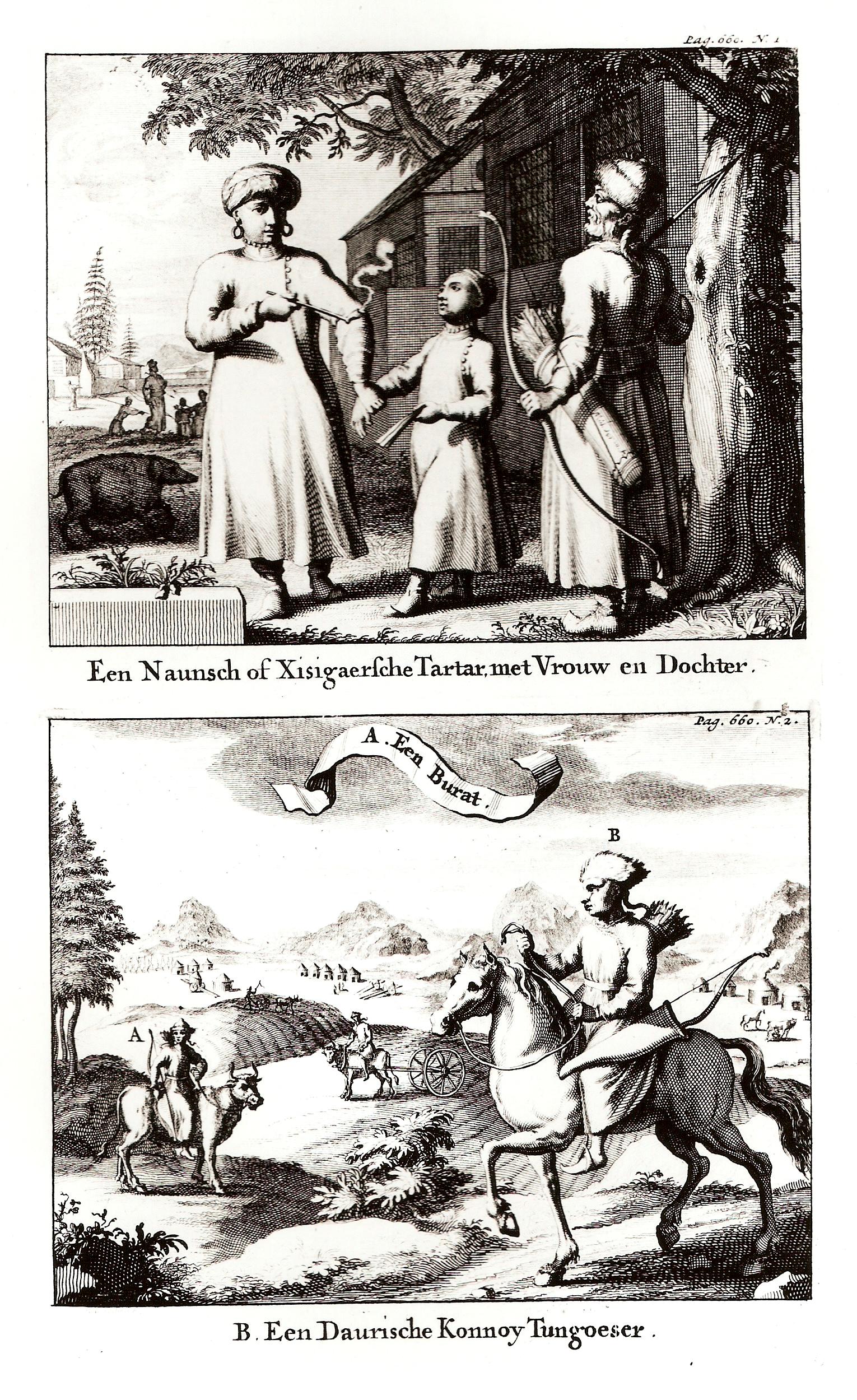 Ксиксигарский тартарин со своей супругой и дочерью