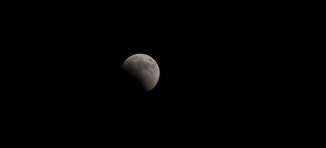 Partial lunar eclipse from Egypt