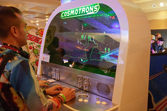 """Cosmotrons"" modern arcade game"
