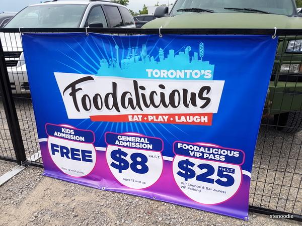 Foodalicious entrance fees
