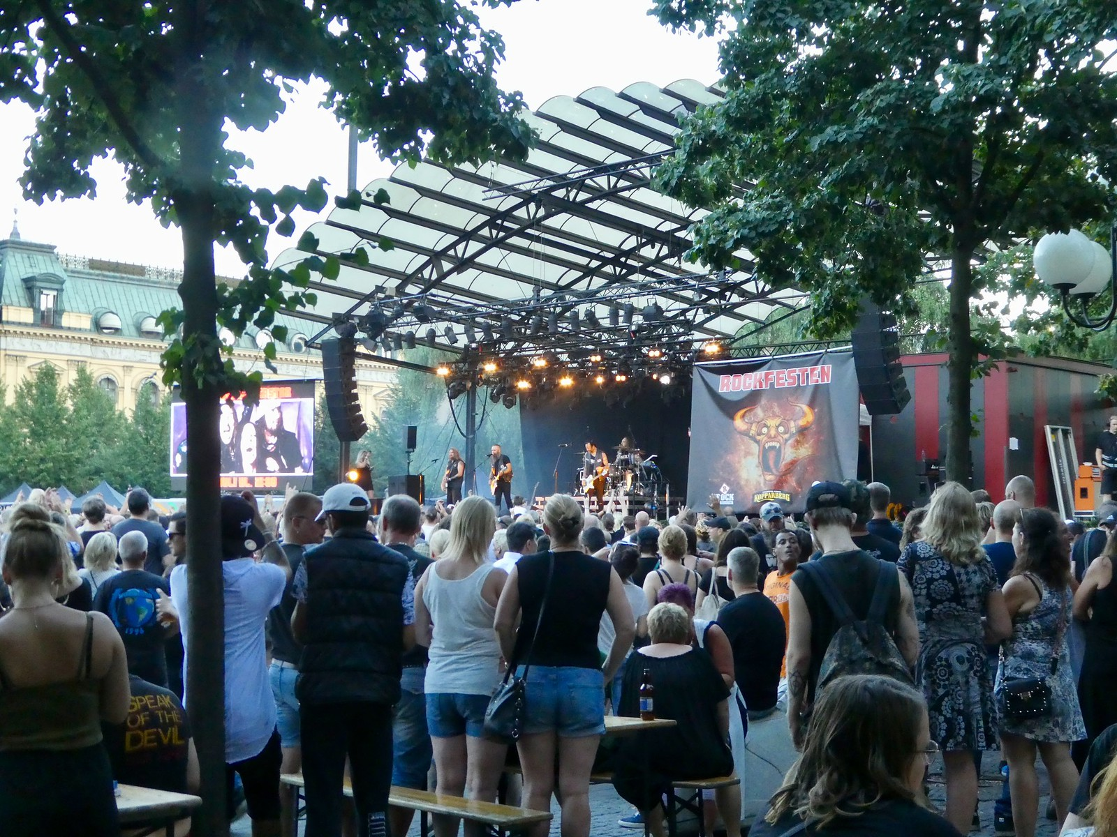 Rock Fest concert taking place in Kungsträdgården, Stockholm