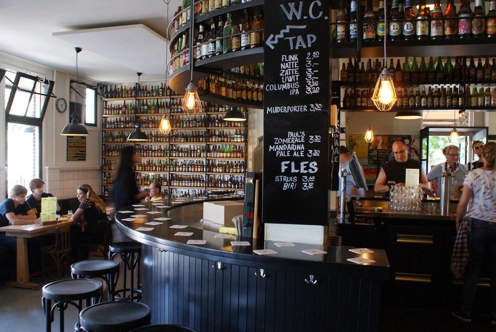 A l'intérieur de la microbrasserie Brouwerij 't Ij à Amsterdam