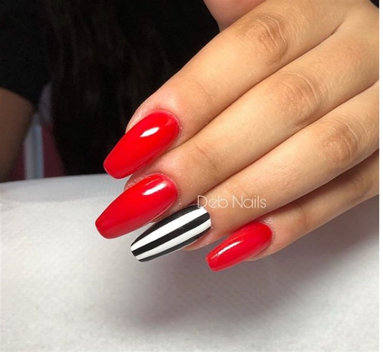 30 Beautiful Striping Tape Nail Art Designs Fashonails
