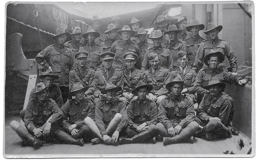 Alfred George Weaver front left WW1 aboard Kaiser Hind 1919