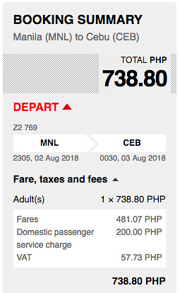 Manila to Cebu AirAsia Promo Aug 2, 2018