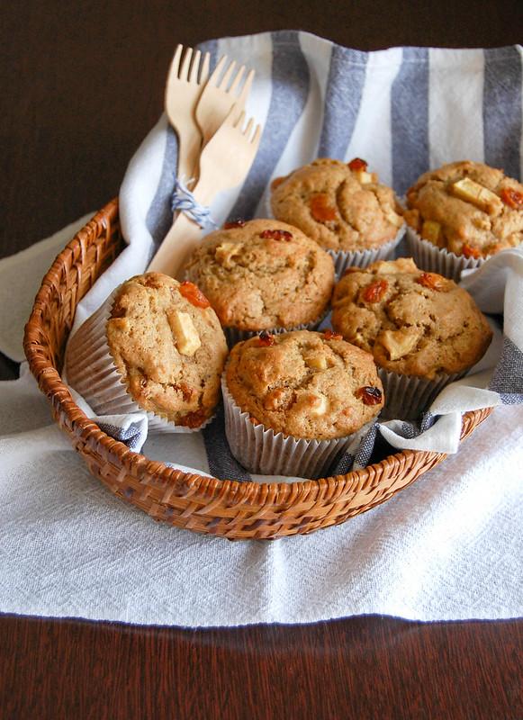 Muffins de maçã e centeio