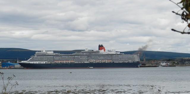 Queen Elizabeth Cruise Ship, from Balblair, Black Isle, 18th July 2018