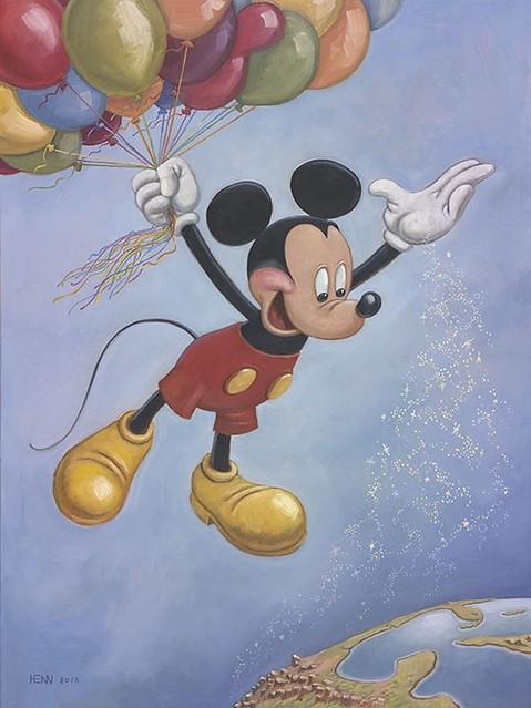 Le portrait anniversaire officiel de Mickey révelé