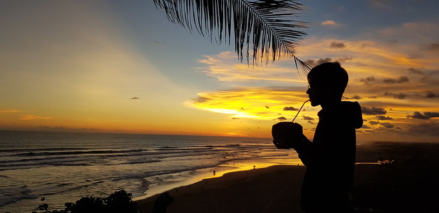 Enjoying Yogyakarta's sunset from the Queen of the South Resort, Parangtritis Yogyakarta