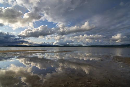 ottawariver constancebay sunset clouds reflections landscape riverscape july cloudscape