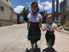 Just two Guatemaltecas walking down the street