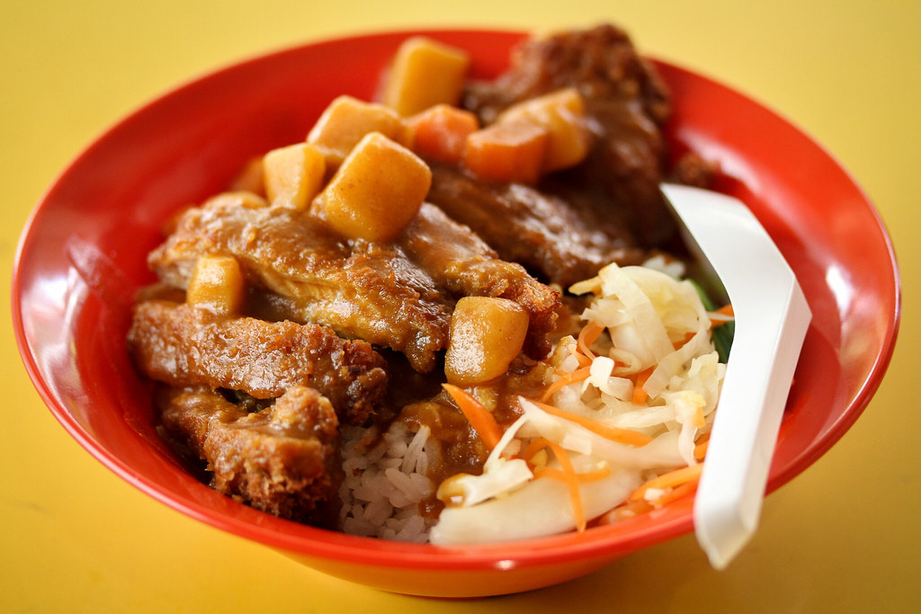 Fun Fan Chicken Cutlet Bowl (Japanese Curry)