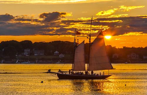 orrsisland harpswell maine sunset sundown dusk sail schooner alert
