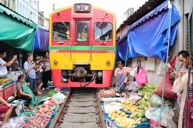 Como ir al mercado de las vías del tren