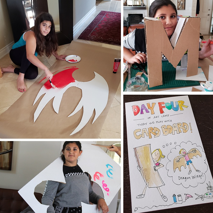 SAJ-Art-Camp-Day-4-Cardboard-Whispering-1