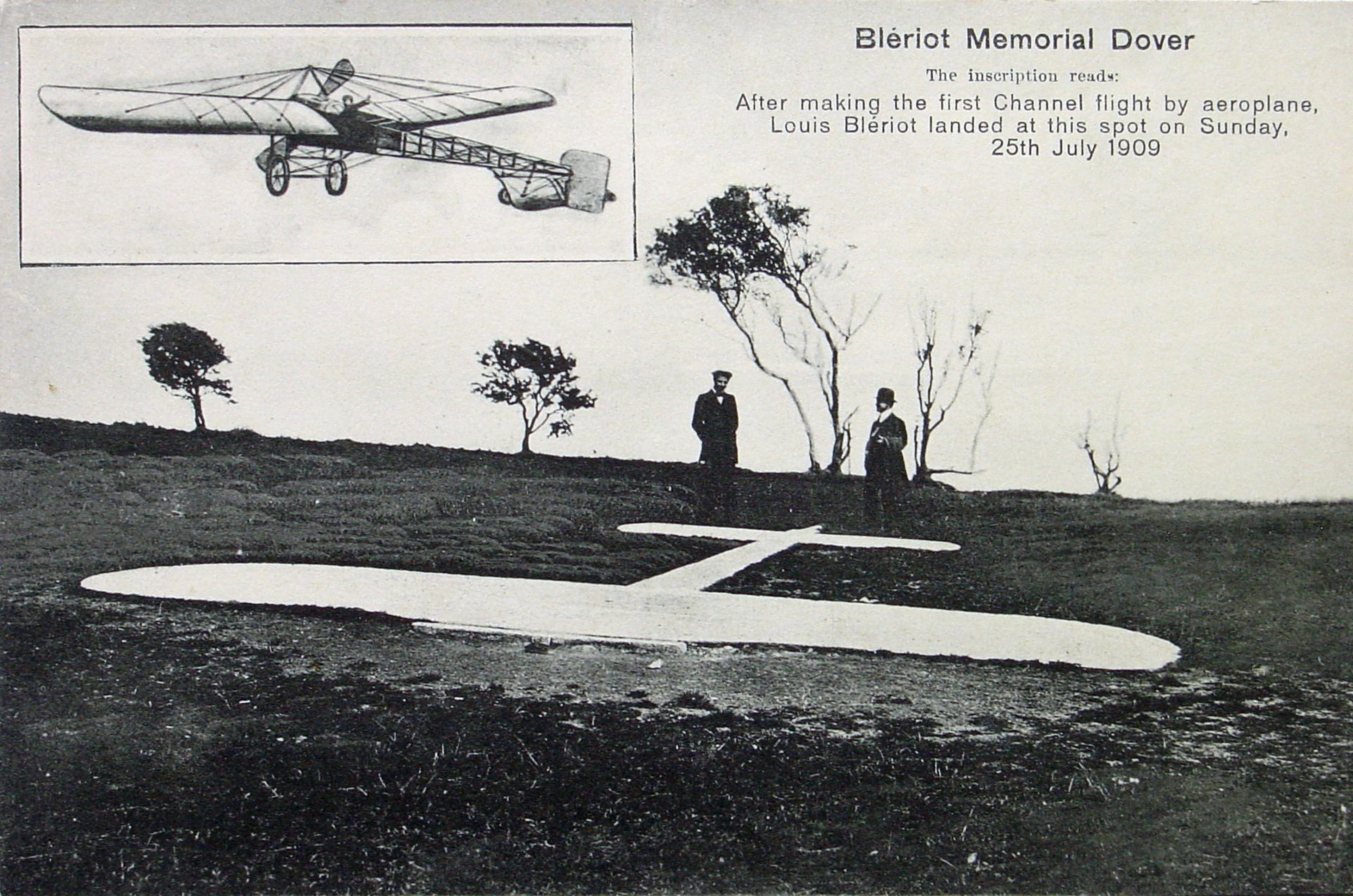The Bleriot Memorial in Dover, England, shortly after it was laid.