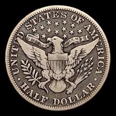 1895-O Barber half dollar reverse