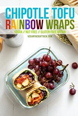 Chipotle Tofu Rainbow Wrap