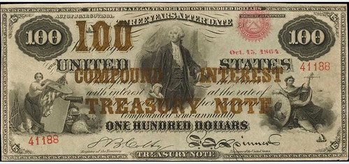 1864 $100 Compound Interest Treasury Note