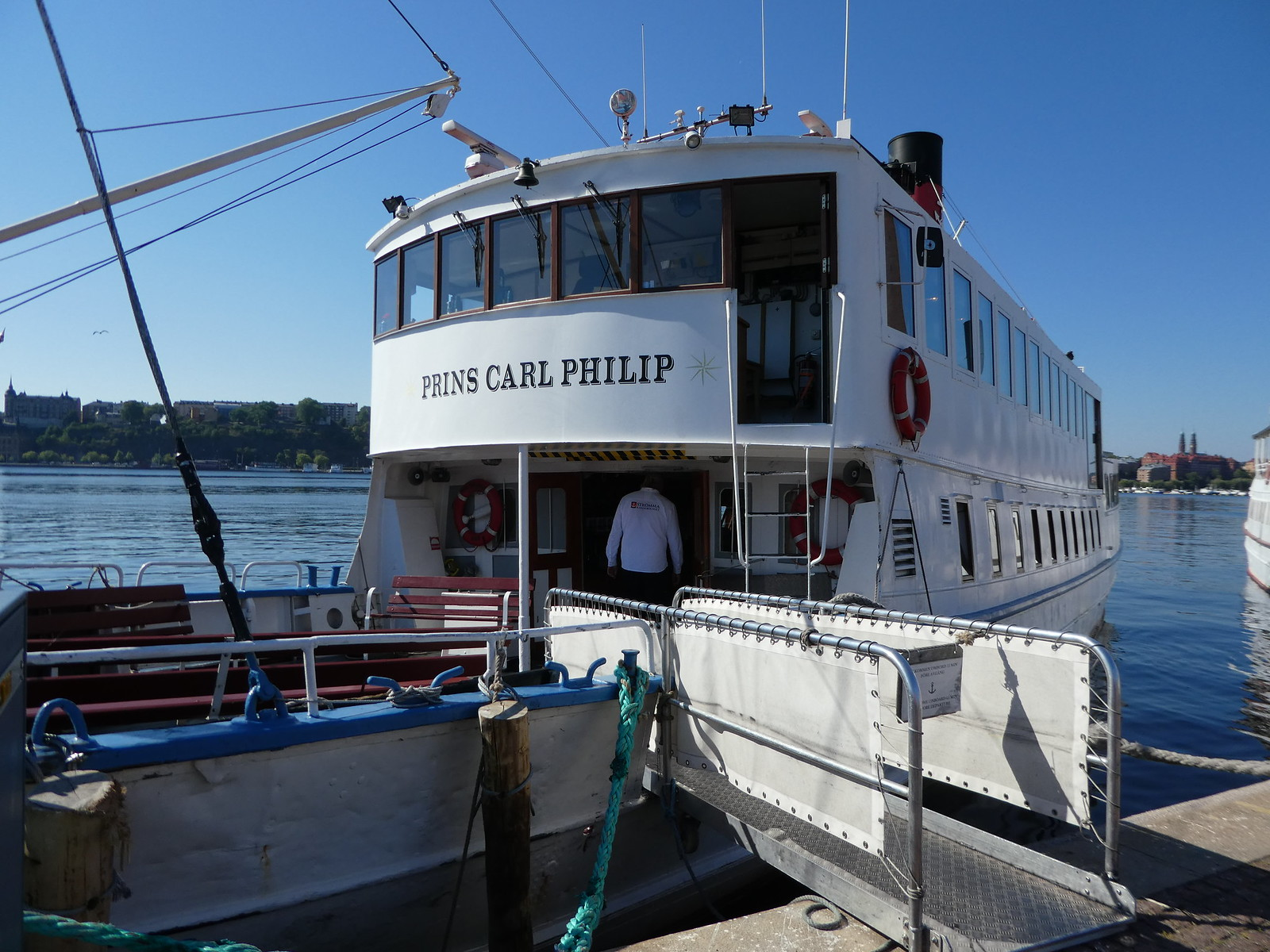 Prins Carl Philip our boat to Drottningholm Palace