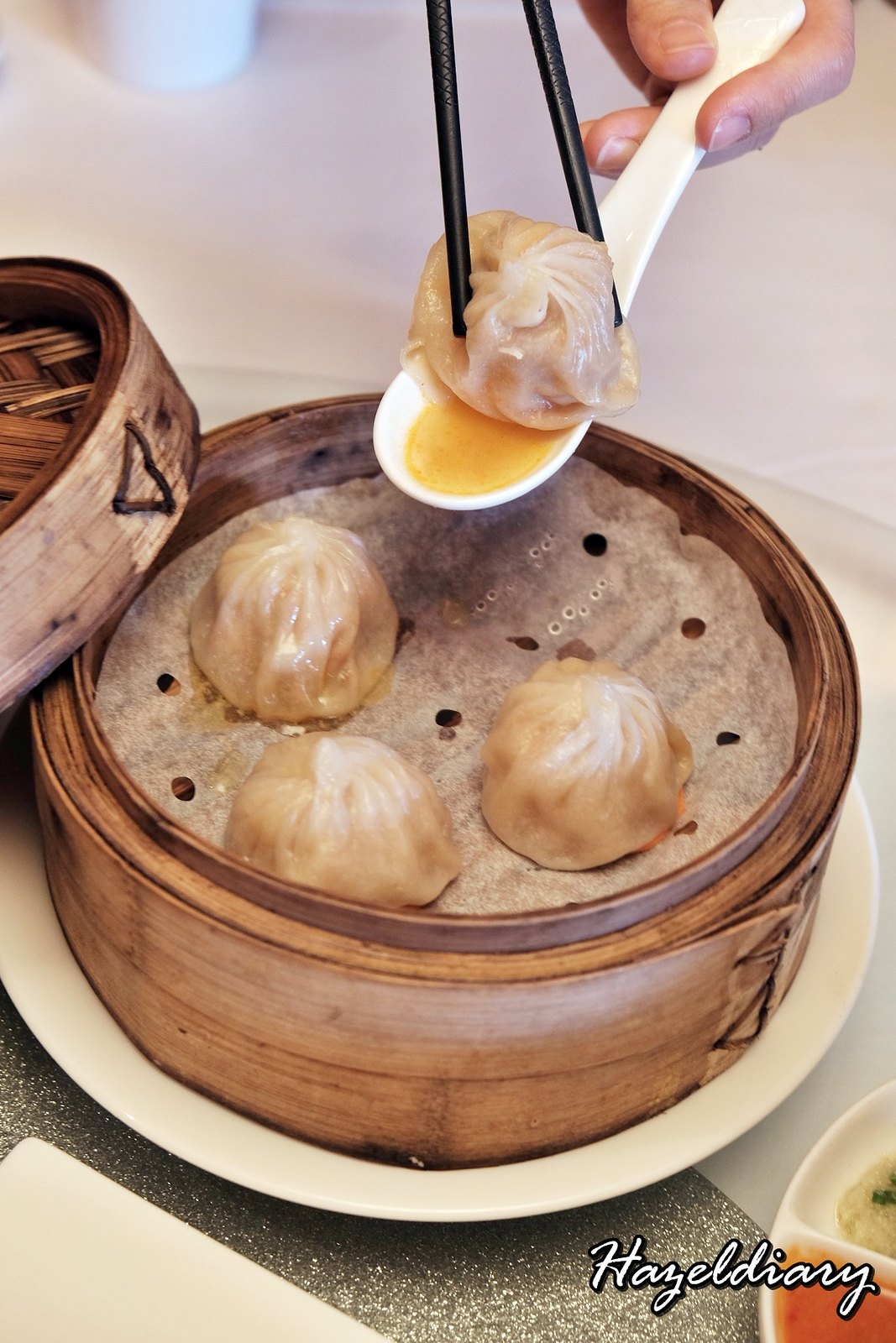 Yan Cantonese Cuisine-Steamed Laksa Xiao Long Bao with Diced Shrimp-1