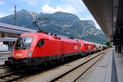 Güterzug von Reutte nach Innsbruck - im Bahnhof Garmisch-Partenkirchen