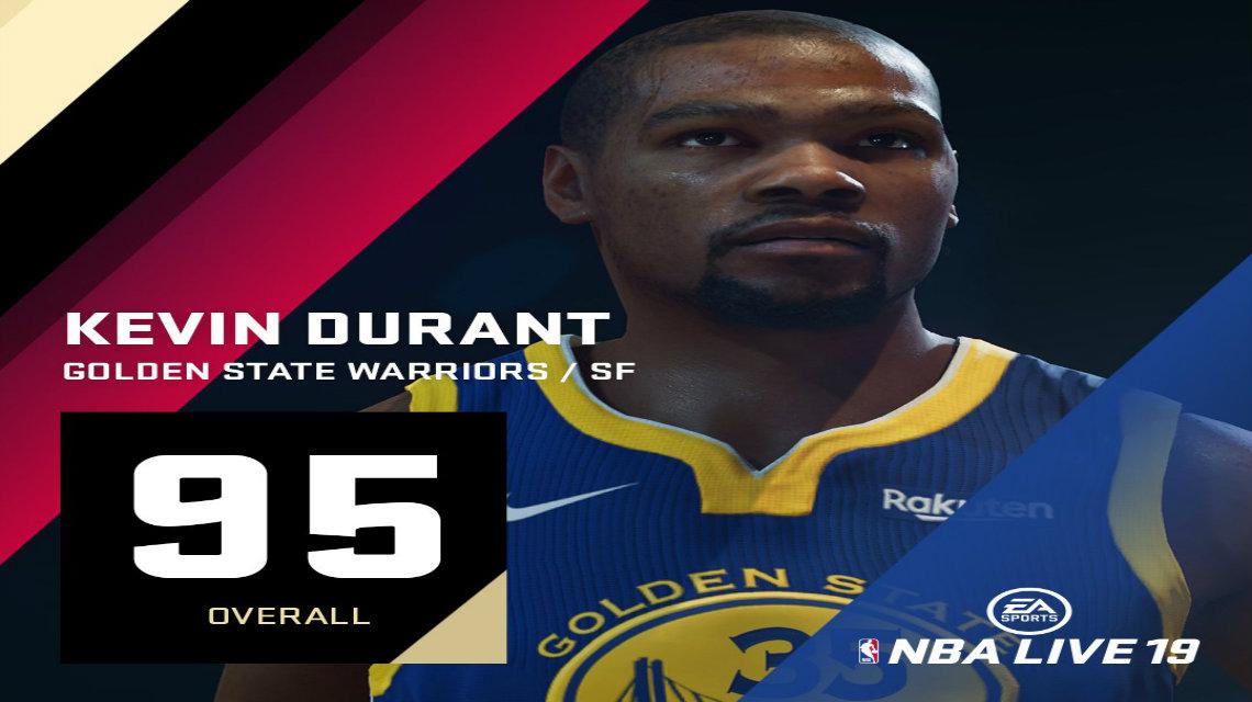 NBA Live 19 pozisyonlarına göre en iyi 5 oyuncu overall ratingleri
