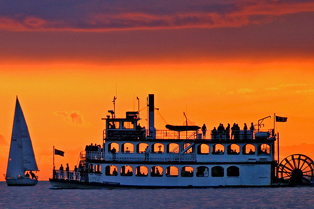 AFS sternwheeler silhouette