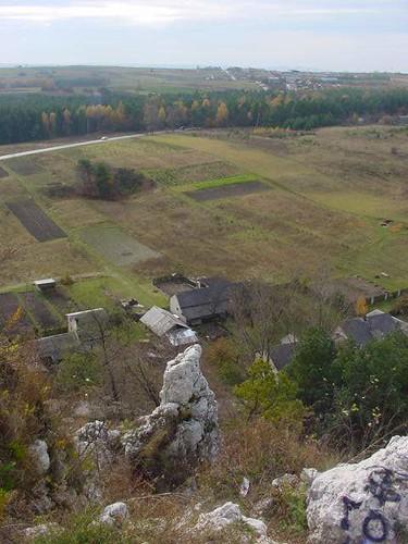 Widok z zamku rabsztyn jura krakowsko częstochowska poland