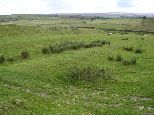 Ditch system on the west side of Great Chesters